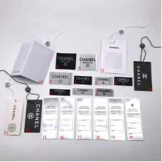 20pcs Chanel Label Tag Wash Mark Logo Patches