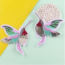 10 Pairs Bird Glitter Patch Sequined Patches For Clothing