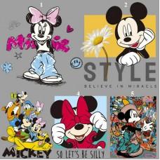 20pcs Disney Mickey Vinyl Patches Cartoon Jacket Patchwork
