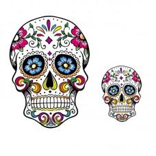 20pcs Floral Skull Vinyl Patch Punk Badge Stickers Jacket Patchwork