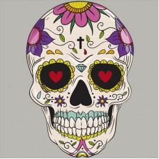 20pcs Floral Skull Vinyl Patch Punk Badge Appliques