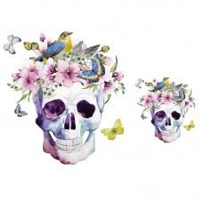 20pcs Flower Skull Punk Patch Vinyl Badge Appliques