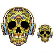 20pcs Headset Skull Vinyl Patch Iron On Patchwork Appliques