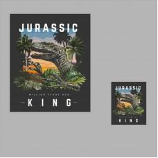 20pcs  Jurassic Dinosaur Vinyl Patch Iron On Appliques