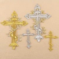 10pcs Cross Patch Embroidered Badge Patchwork