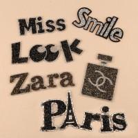 10pcs Chanel Zara Paris Beaded Patches
