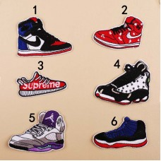 10pcs Nike Supreme Jordan Sport Shoes Patches