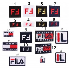 10pcs Tommy Fendi Logo Iron On Patches