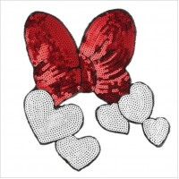 20pcs Bowknot Sequined Patches Glitter Appliques For Dress Hoodies