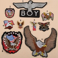 10pcs Boy London Eagle Embroidered Patches Motorcycle Badge