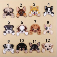 20pcs Cartoon Dog Pet Embroidered Patches Jacket Patchwork