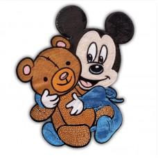10pcs Disney Mickey Glitter Patch Beaded Patchwork