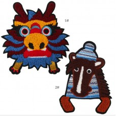 20pcs Cartoon Animal Towel Embroidered Patch Sew On Appliques
