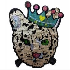20pcs Crown Cat Glitter Patch Sequined Patchwork