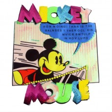 20pcs Disney Mickey Glitter Patches For Clothing