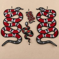 20pcs Gucci Snake Embroidered Patch Iron On Appliques