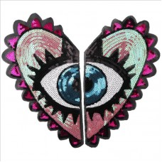 20pcs Heart Glitter Patch For Cardigan Hoodies