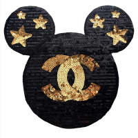 20pcs Chanel Logo Mickey Glitter Patches