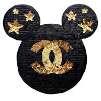 20pcs Chanel Logo Mickey Glitter Patches