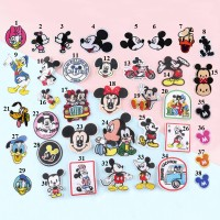 20pcs Disney Mickey Donald Duck Patches Appliques