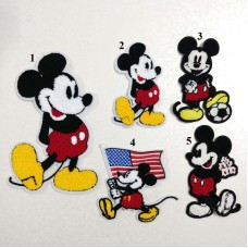 20pcs Mickey Towel Embroidered Patch Sew On Appliques