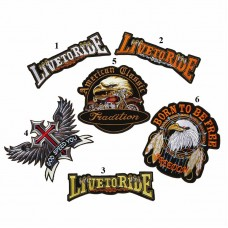 10pcs Eagle Iron On Patches Motorcycle Badge