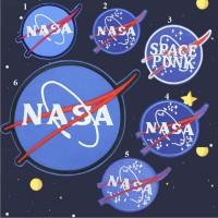 20pcs NASA Iron On Patches Appliques Jacket Patchwork