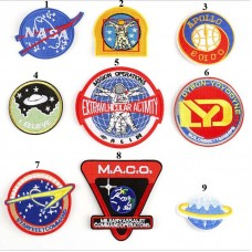 20pcs NASA Astronaut Embroidered Patch Iron On Appliques