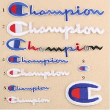 20pcs Champion Embroidered Patches For Clothing