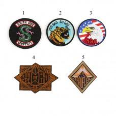 10pcs Snake Tiger Eagle Punk Badge Patches