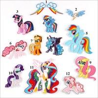 20pcs The little Pony Cartoon Patches Appliques