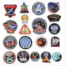 20pcs Aerospace Spaceship Iron On Embroidered Patches Badge