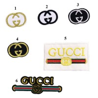 10pcs Gucci Logo Patch Iron On Patches For Clothing
