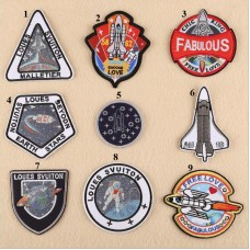 20pcs Astronaut Galaxy Iron On Patches Jacket Patchwork