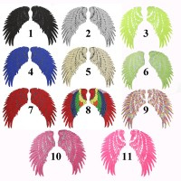 10 pairs Wings Glitter Patches Sequined Patchwork